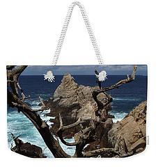 Point Lobos Rocks And Branches Weekender Tote Bag