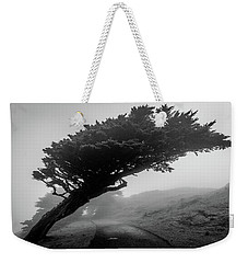 Point Reyes Fog Black And White Weekender Tote Bag