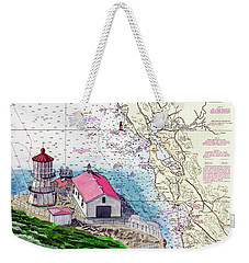Point Reyes Light Station Weekender Tote Bag by Mike Robles
