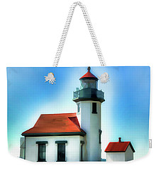 Point Robinson Lighthouse Weekender Tote Bag by Greg Sigrist