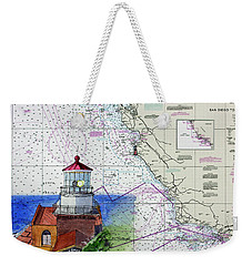 Point Sur Light Station Weekender Tote Bag by Mike Robles
