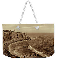 Point Vicente Lighthouse Palos Verdes California - Sepia Rendition Weekender Tote Bag