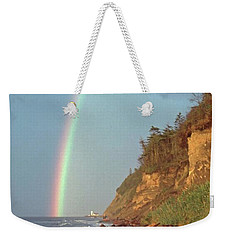 Weekender Tote Bag featuring the photograph Point Wilson by Laurie Stewart