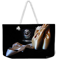 Weekender Tote Bag featuring the photograph Pointe Shoes And Police by Laurianna Taylor