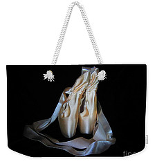 Weekender Tote Bag featuring the photograph Pointe Shoes1 by Laurianna Taylor