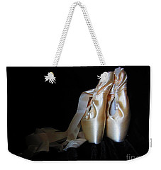 Weekender Tote Bag featuring the photograph Pointe Shoes2 by Laurianna Taylor