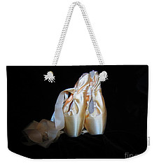 Weekender Tote Bag featuring the photograph Pointe Shoes3 by Laurianna Taylor