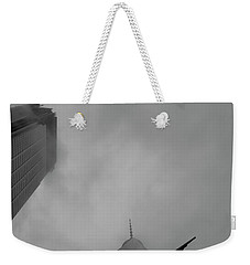 Pointed Reminder Weekender Tote Bag by Alex Lapidus