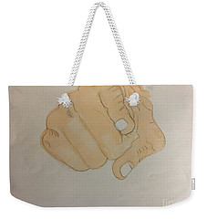 Pointing Finger Weekender Tote Bag
