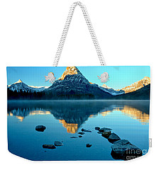 Weekender Tote Bag featuring the photograph Pointing To Sinopah by Adam Jewell