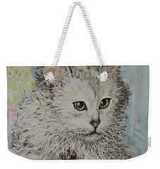 Poised Cat Weekender Tote Bag by Kim Tran