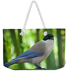 Weekender Tote Bag featuring the photograph Poised by Judy Kay