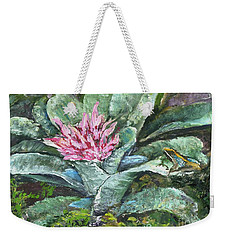 Poison Dart Frog On Bromeliad Weekender Tote Bag