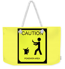 Weekender Tote Bag featuring the digital art Pokemon Area by Shane Bechler