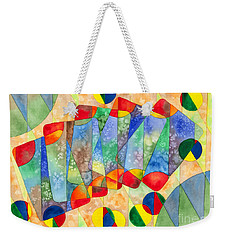 Poker Abstract Watercolor Weekender Tote Bag