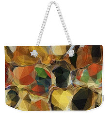 Weekender Tote Bag featuring the photograph Crazy Quilt by Kathie Chicoine