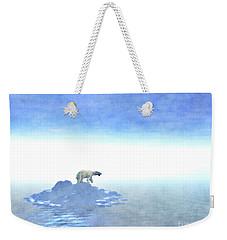 Weekender Tote Bag featuring the digital art Polar Bear On Iceberg by Phil Perkins