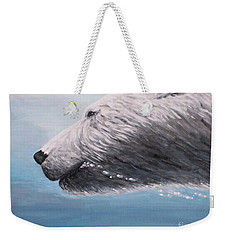 Polar Bear Splash Weekender Tote Bag by Judy Kirouac