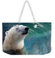 Polar Bear Up Close Weekender Tote Bag