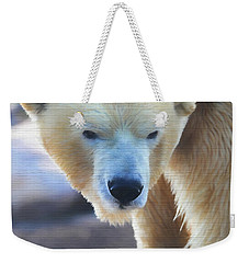 Polar Bear Wooden Texture Weekender Tote Bag by Dan Sproul
