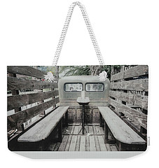 Polaroid Image-old Truck Bench Seats Weekender Tote Bag