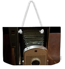 Weekender Tote Bag featuring the photograph Polaroid Land Camera Model 160 by Chris Flees