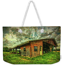 Weekender Tote Bag featuring the photograph Pole Barn by Lewis Mann