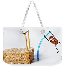 Pole Vaulting Raisin Weekender Tote Bag