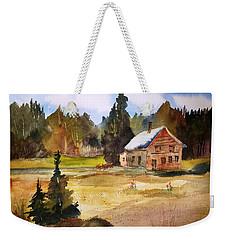 Polebridge Mt Cabin Weekender Tote Bag