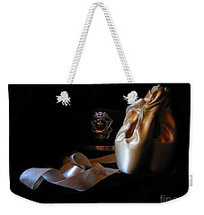Weekender Tote Bag featuring the photograph Police And Pointe  by Laurianna Taylor