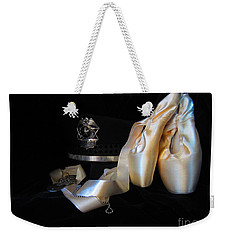 Weekender Tote Bag featuring the photograph Police, Military, And Pointe Shoes by Laurianna Taylor