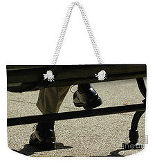 Polished Shoes On Bench Weekender Tote Bag