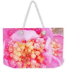 Polka Dot Floral Weekender Tote Bag