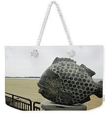 Polka Dotted Fish Sculpture Weekender Tote Bag