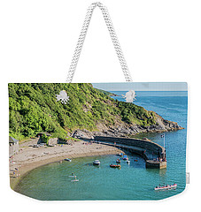 Polkerris Beach And Harbour Weekender Tote Bag by Hazy Apple