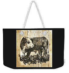 Polled Hereford Bull 11 Weekender Tote Bag