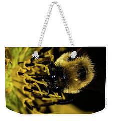 Weekender Tote Bag featuring the photograph Pollen Collector 2 by Jay Stockhaus