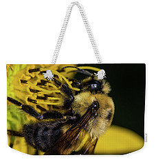 Weekender Tote Bag featuring the photograph Pollen Collector  by Jay Stockhaus