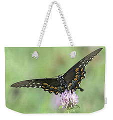 Weekender Tote Bag featuring the photograph Pollinating #2 by Wade Aiken
