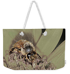 Pollinating Bee Weekender Tote Bag