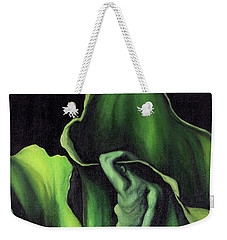 Weekender Tote Bag featuring the painting Pollination by Fei A