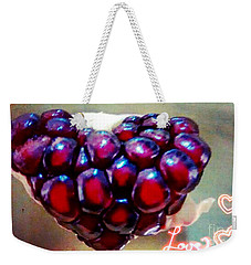Weekender Tote Bag featuring the digital art Pomegranate Heart by Genevieve Esson