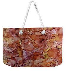 Weekender Tote Bag featuring the painting Pomegranate Lemonaid Ink #15 by Sarajane Helm