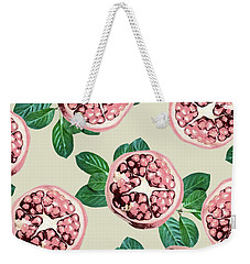Pomegranate Pattern Weekender Tote Bag by Uma Gokhale