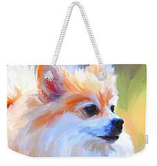 Pomeranian Portrait Weekender Tote Bag