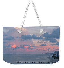 Pompano Pier At Sunset Weekender Tote Bag