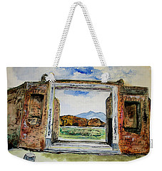 Pompeii Doorway Weekender Tote Bag by Clyde J Kell