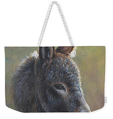 Weekender Tote Bag featuring the painting Poncho by Kim Lockman