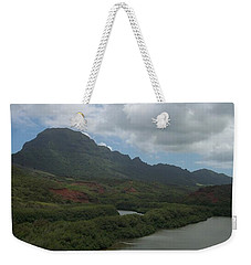 Pond And Mountain Landscape Weekender Tote Bag