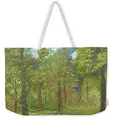 Weekender Tote Bag featuring the mixed media Pond by Angela Stout